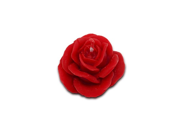 Bienenwachskerze Rose rot, ca. 34g