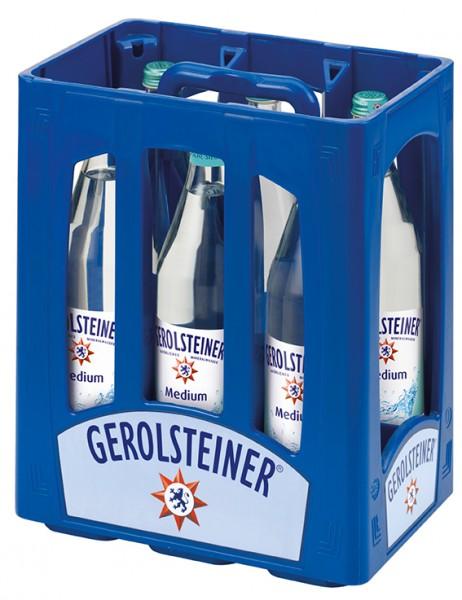 Gerolsteiner Medium 6x1,0 L Glas