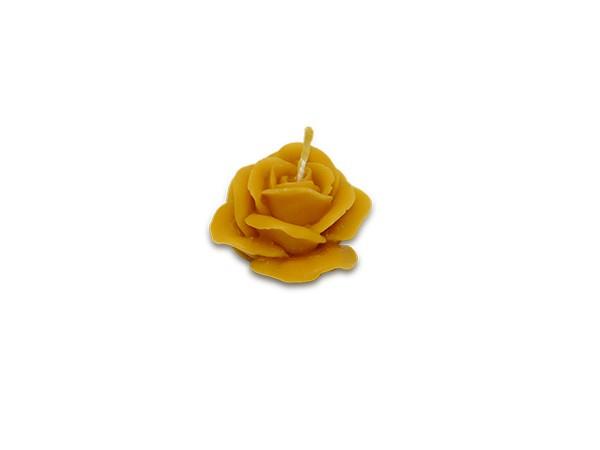 Bienenwachskerze Rose naturgelb, ca. 34g