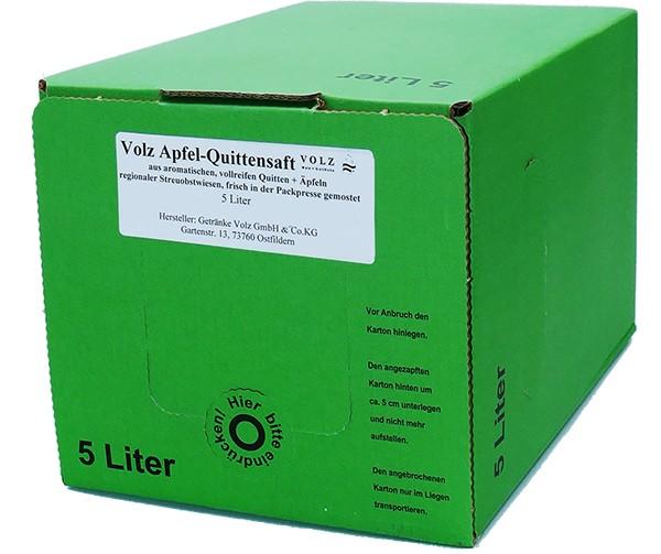 Volz Apfel-Quitten Direktsaft Bag in Box 5Ltr.