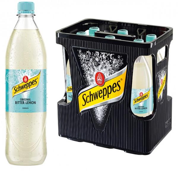 Schweppes Original Bitter Lemon 6x1,0 L