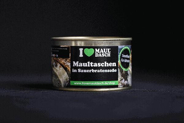 I love Mauldasch Maultaschen in Sauerbraten soße 400 g
