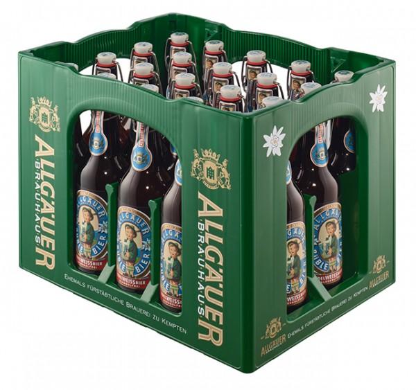 Allgäuer Büble Edelweissbier alkoholfrei 20x0,5 L