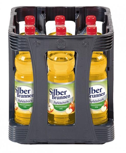 Silberbrunnen Apfelschorle 9x1,0 L