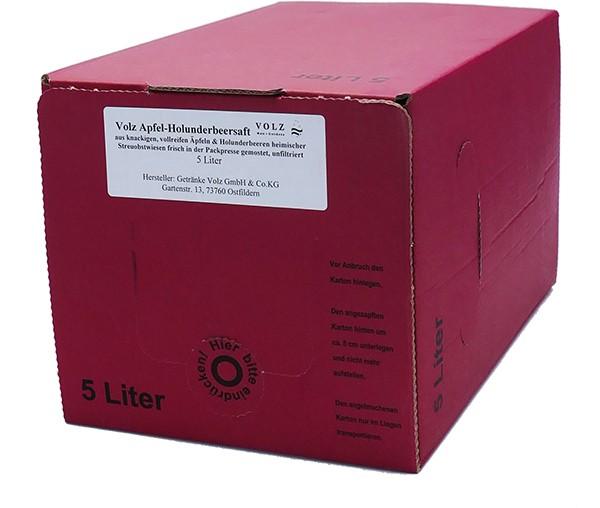 Volz Apfel-Holunder Direktsaft Bag in Box 5l