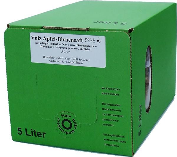 Volz Apfel-Birnen Direktsaft Bag in Box 5Ltr.