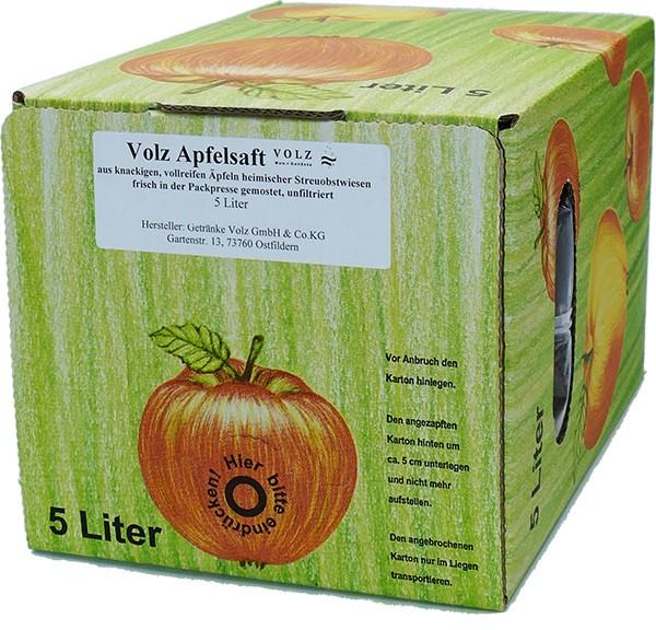 Volz Apfelsaft Direktsaft Bag in Box 5Ltr.